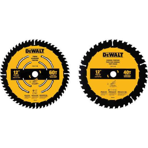 DeWalt Construction 12 In. Assorted Circular Saw Blade Set (2-Pack)