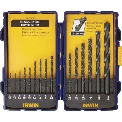 Irwin 15-Piece Black Oxide Drill Bit Set