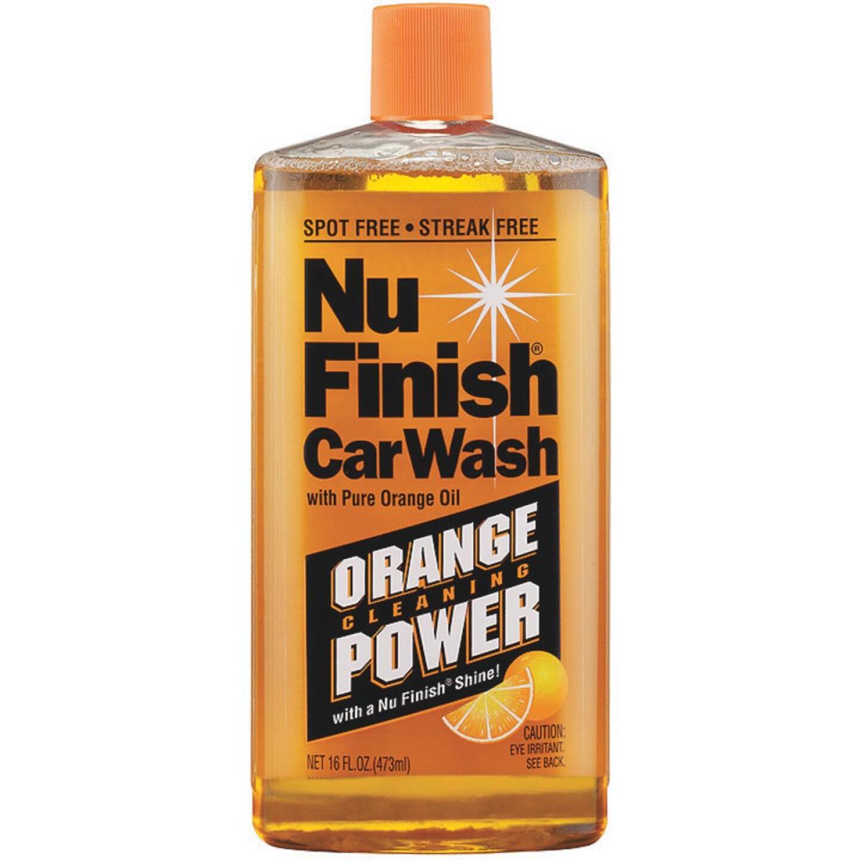 Nu Finish 16 Oz. Liquid Orange Cleaning Power Car Wash Image 1