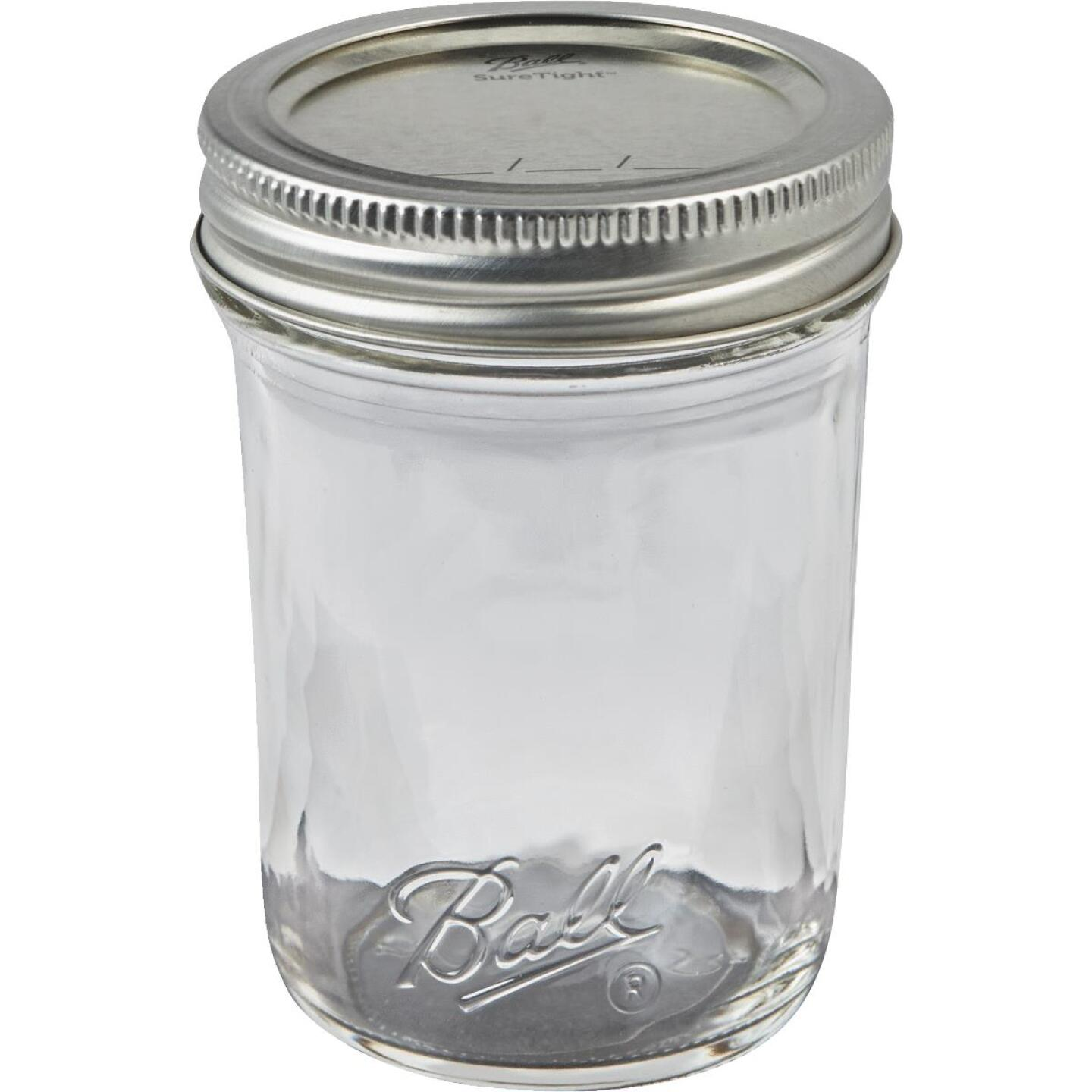 Ball 1/2 Pint Regular Mouth Smooth-Sided Silver Lid Canning Jar (12-Count) Image 3
