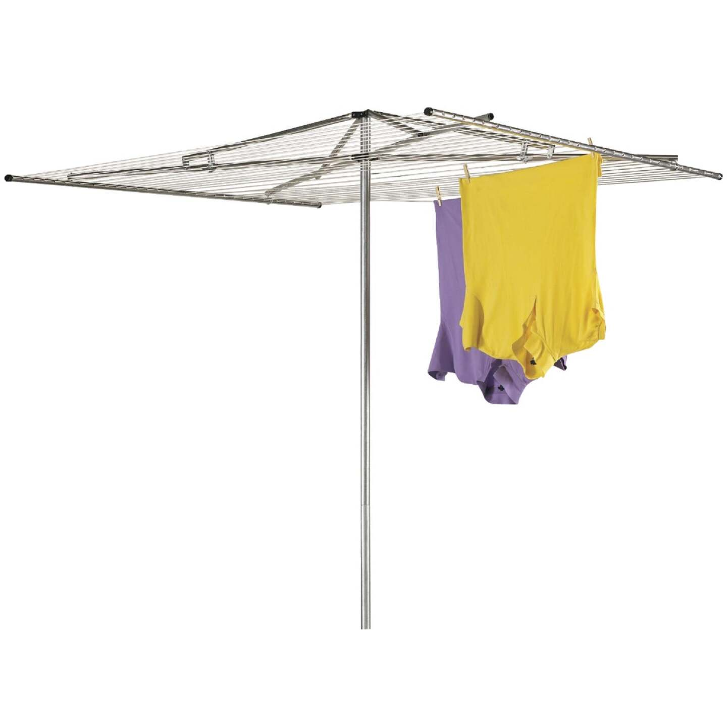 Household Essentials Sunline 72 In. 72 In. 180 Ft. Drying Area Umbrella Style Clothes Dryer Image 1