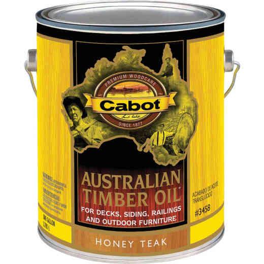 Cabot Australian Timber Oil Translucent Exterior Oil Finish, Honey Teak, 1 Gal.