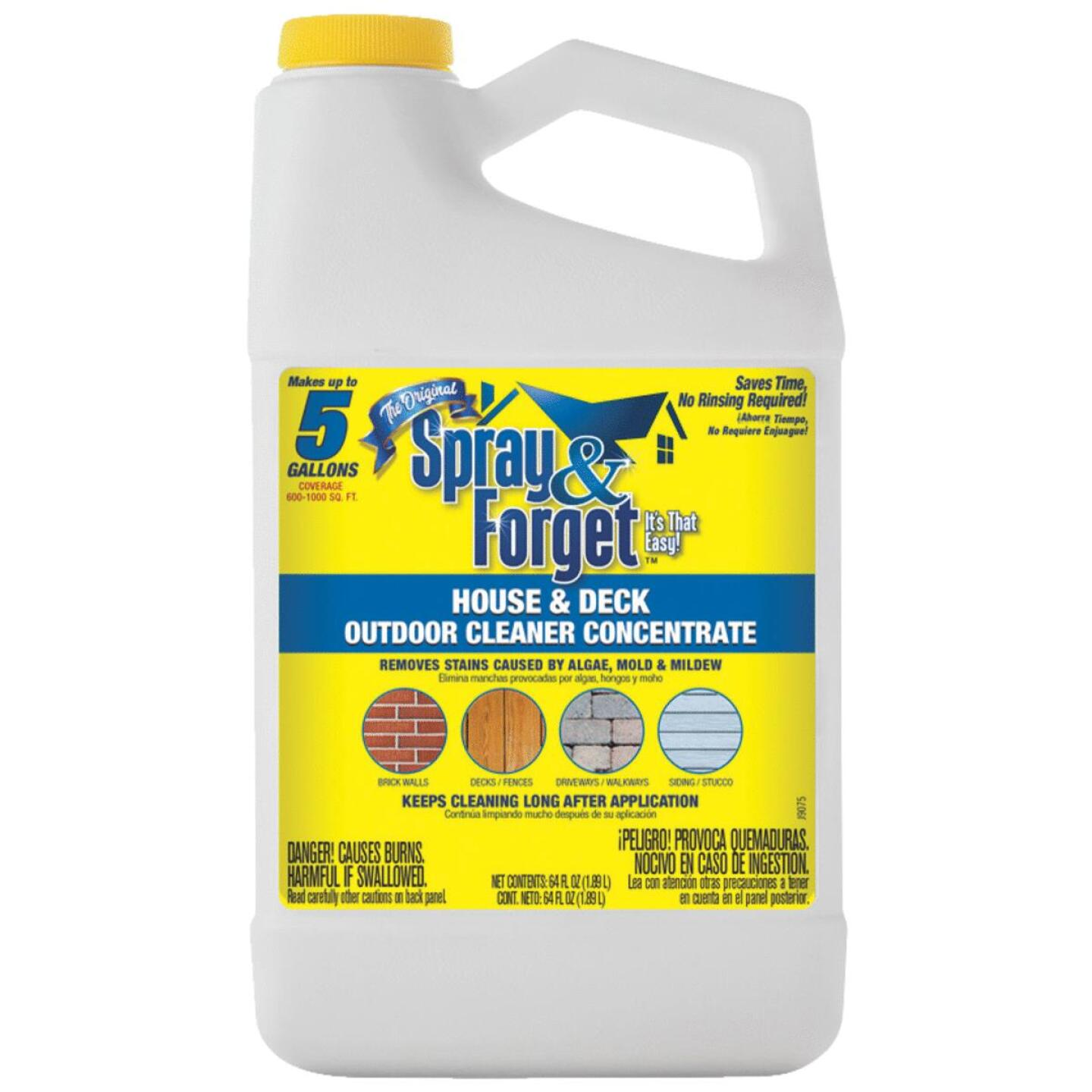 Spray & Forget 64 Oz. Liquid Concentrate House & Deck Outdoor Cleaner Mold Stain Remover Image 1
