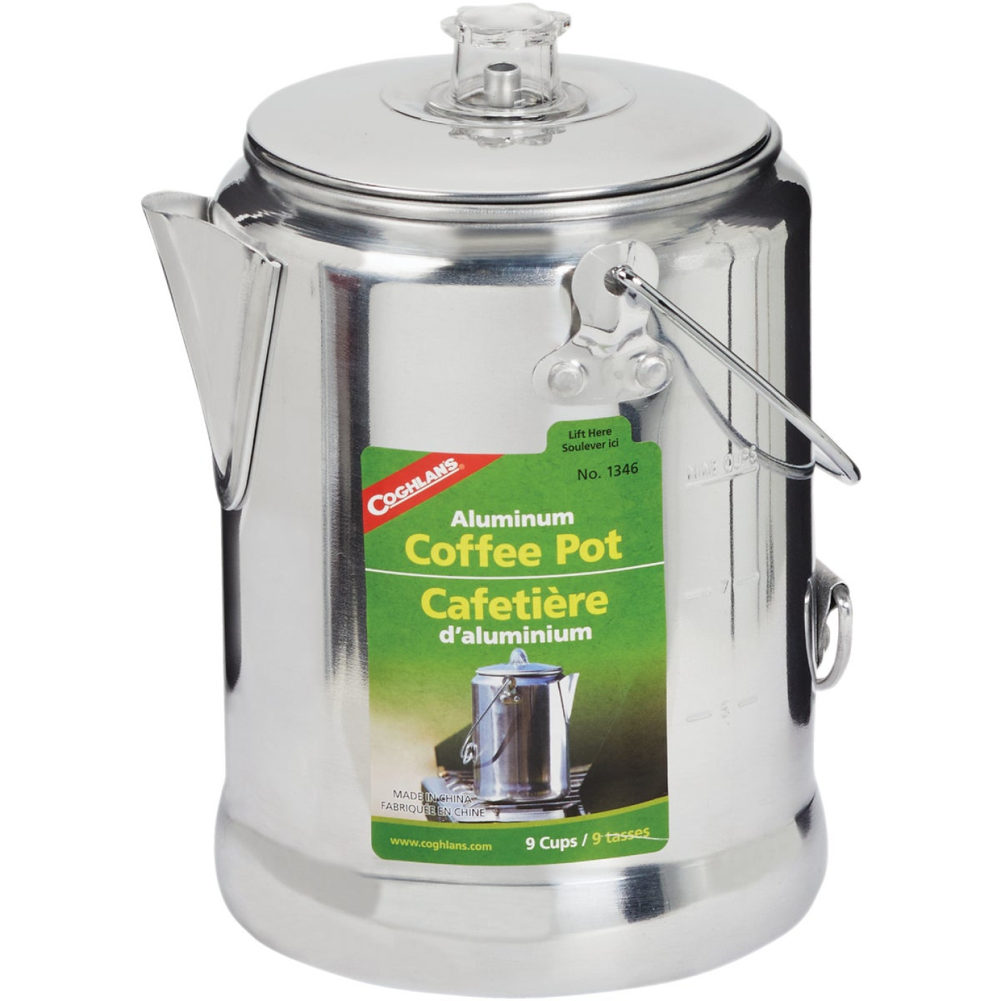 Coleman 9-Cup Aluminum Camping Coffee Pot Image 1